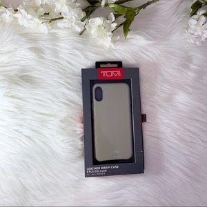 [Tumi] NWT Leather iPhone X Case
